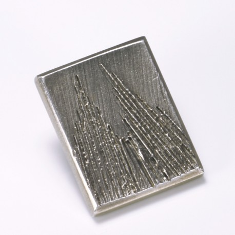 Badge Cologne Cathedral, square, 925- silver