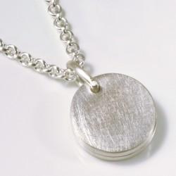 Pendant, 925 silver, medallion round