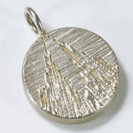 Anhänger Kölner Dom, 925- Silber, rund