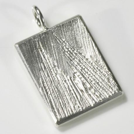 Anhänger Kölner Dom, 925- Silber, eckig