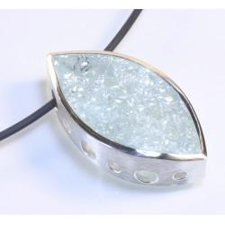 Anhänger, 925- Silber, Aquamarin