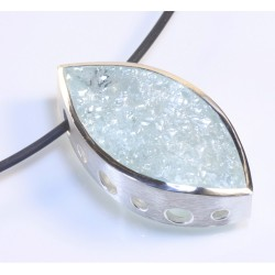Pendant, 925 silver, aquamarine