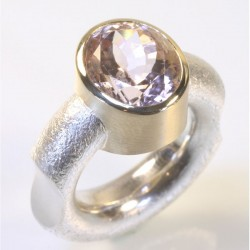 Ring, 925 silver, 585 gold, tourmaline