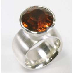 Ring, 925 silver, citrine