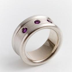 Ring, 925- Silber, Amethyste
