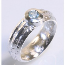 Ring, 925- Silber, Aquamarin