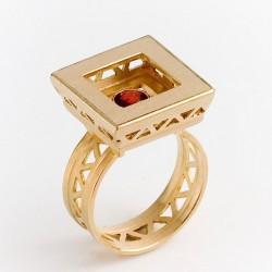 Ring, Villa Romana, 750 gold, garnet