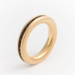 Ring, 750- Gold, Onyx