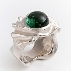Ring, 925 silver, tourmaline