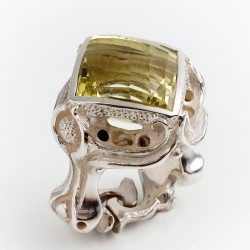 Ring, 925 silver, The ring, Lemon quartz