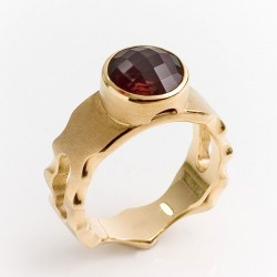 Maharaja ring, 750 gold, pink tourmaline