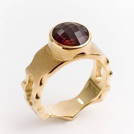 Maharaja ring, 750 gold, pink tourmaline