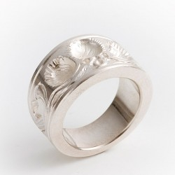 Ring, 925 silver, tree of life