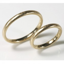 Thin wedding rings, 750 gold