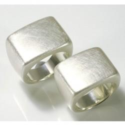 Signet rings as wedding rings, 925 silver