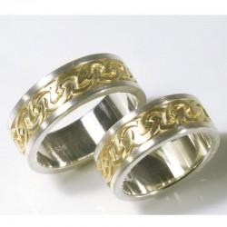 Trauringe, Gold, Silber, keltisch