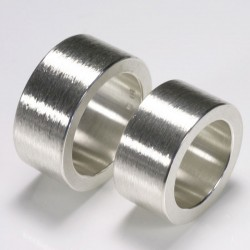 Eheringe, 925- Silber, ultrabreit