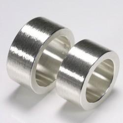 Ultra wide wedding rings, 925 silver