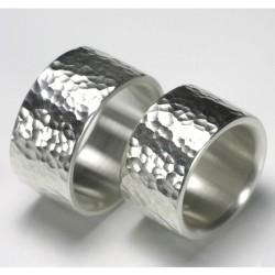 Eheringe, 925- Silber, Hammerschlag