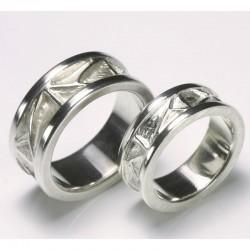 Wedding rings, 925 silver, cassette rings