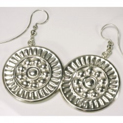 Earrings, 925 silver, rosettes