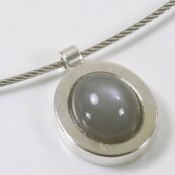 Anhänger, 925- Silber, Mondstein