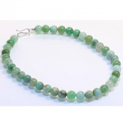 Necklace, 925- silver, chrysoprase