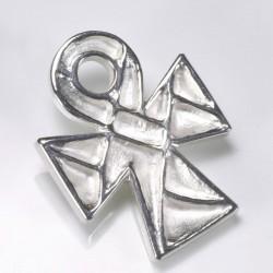 Anhänger, Bernstein 925- Silber, Stahl