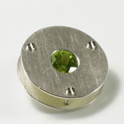 Pendant, 925 silver, peridot