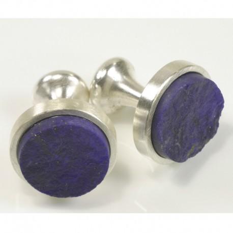 Cufflinks, 925 silver, lapis lazuli