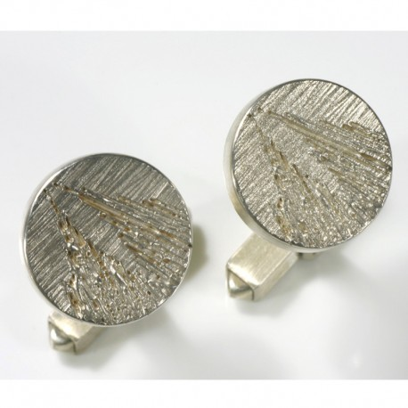 Cufflinks, 925 silver, Cologne Cathedral, round