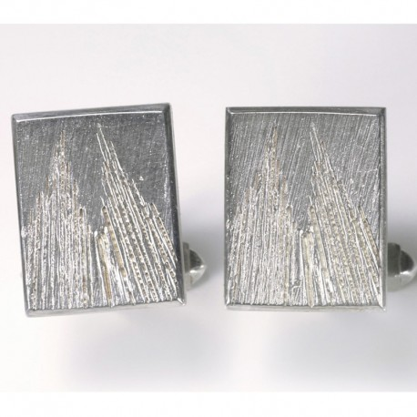 Cufflinks, 925 silver, Cologne Cathedral, square