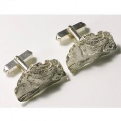 Manschettenknöpfe, 925- Silber, Redwood