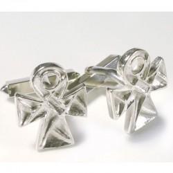 Manschettenknöpfe, 925- Silber, Koptisches Kreuz