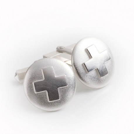 Cufflinks, 925 silver, crosses