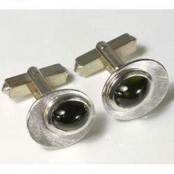 Cufflinks, 925 silver, tourmalines