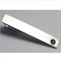 Tie clip, 925- silver, 750- white gold, tourmaline