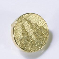 Anstecker Kölner Dom, rund, 750- Gold