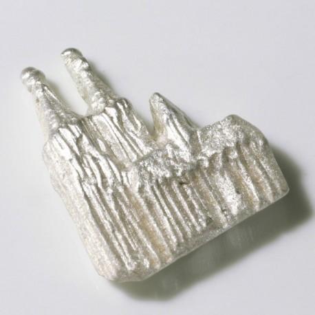 Anstecker Kölner Dom Relief, 925- Silber