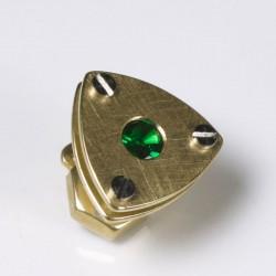 Anstecker, 750- Gold, Tsavolith