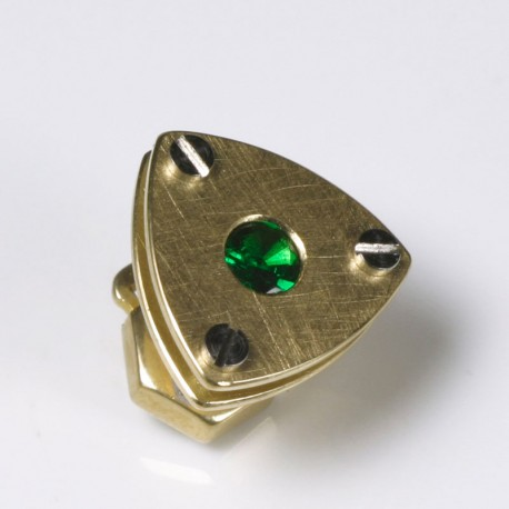 Pin, 750 gold, tsavolite