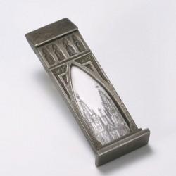Brooch, cathedral in three-kings-gate, 925- silver, enamel