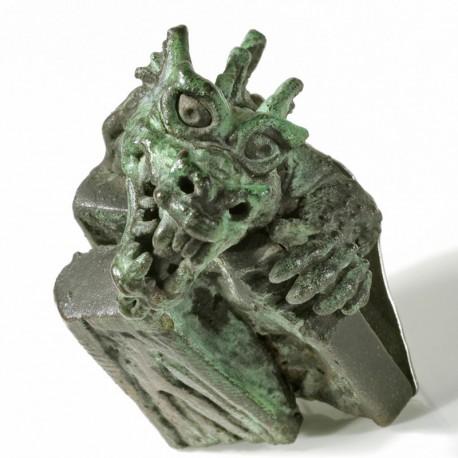 Dragon brooch, copper, steel