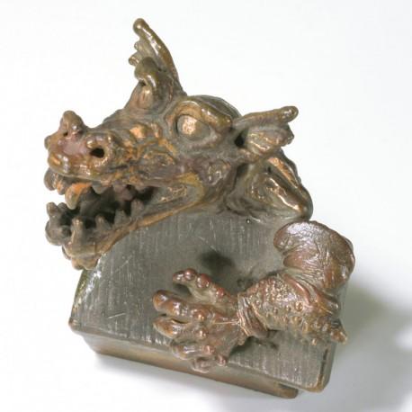 Drachenbrosche, Kupfer, Stahl