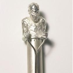 Kugelschreiber Maharadscha, 925- Silber, Messing, Smaragd