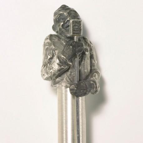 "Ballpoint pen ""Jazz singer"", 925- silver"