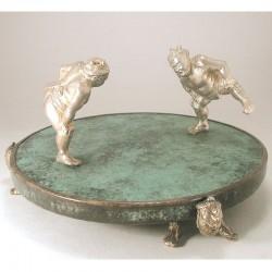 Sumo Pfeffer- und Salzstreuer, 925- Silber und Kupfer