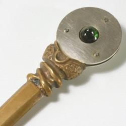 Brieföffner, Bronze, Silber Turmalin