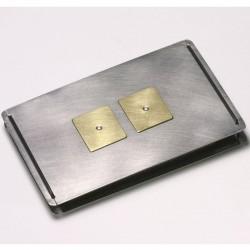 Kreditkartenetui, Edelstahl, 750- Gold, Brillanten