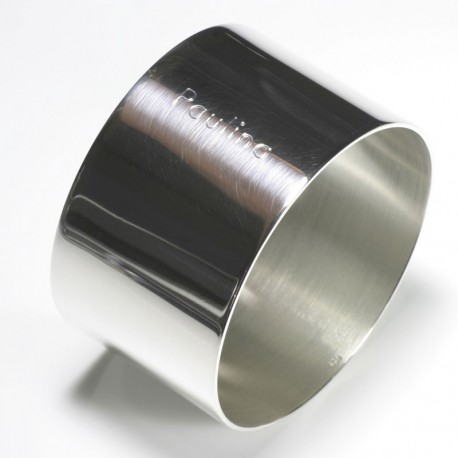 Napkin ring, 925 silver, engraved